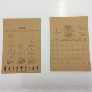 conjunto de papel de escritura de calendario retro occidental