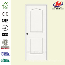 18 in. x 80 in. Smooth 2-Panel Eyebrow Top Solid Core Painted Molded Single Prehung Interior Door