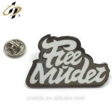Free design metal silk print enamel custom own logo badges