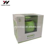 PVC plus Papierverpackungen Box recycelte Materialien laminierte Materialbox mit Fenster