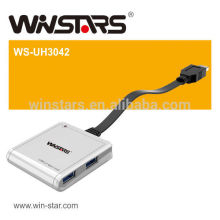 4 Port 1.5A carregando USB 3.0 hub, superspeed (5Gbps) usb 3.0 hub
