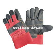 Schwarze Farbe gepatcht Palm Möbel Lederhandschuh