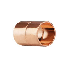A18 nominal pipe diameter 1/2inch straight equal copper coupling ferrule fitting with sweat socket