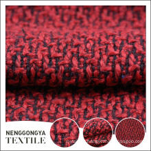 China custom High quality beautiful red chenille fabric for dress