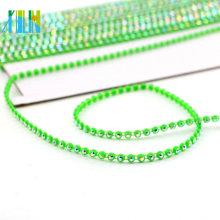 GBA010 Plastic Chain By The Yard Rhinestone Beaded Trim