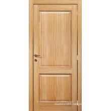 Unfinished interior oak veneered 2 panel composite stile and rail wooden door