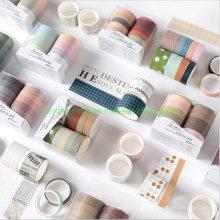 Retro Colorful Paper Masking Tape Set