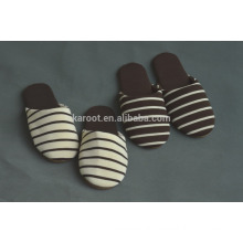 japanese simple soft warm style striped indoor slipper unsex