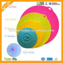 Food Grade Safe Juego de 4 Silicona Reutilizable Suction Seal Tapas para Tazones Vasos Vasos