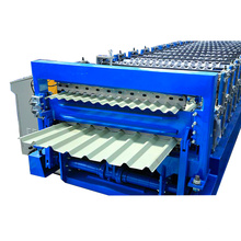 Automatic metal sheet color steel double layer roll forming machinery