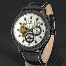 OEM/ODM leather Wrist mechanical Watch for male
