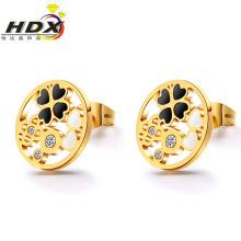 Аксессуары из нержавеющей стали Подарочные серьги Мода ювелирные изделия Золотые серьги стержня (hdx1133)