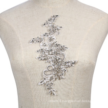 New collection fashional crystal and rhinestone lace applique bridal RM371