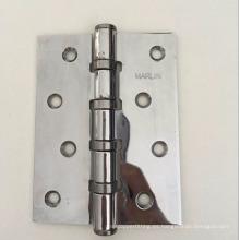 Bisagra de puerta de hierro pulido cromado de agujero recto de fabricación de chapa