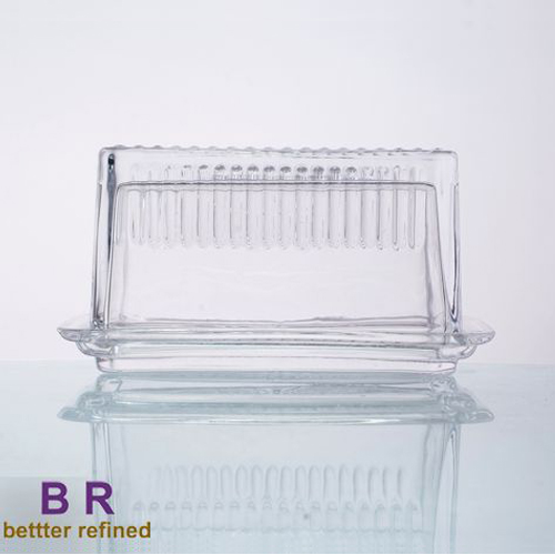 Br 1042 Wholesale Clear Glass Butter Dish With Lid Cover