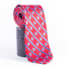 Männer Private Label-Schloss-Rot-Streifen Bedruckte Krawatten