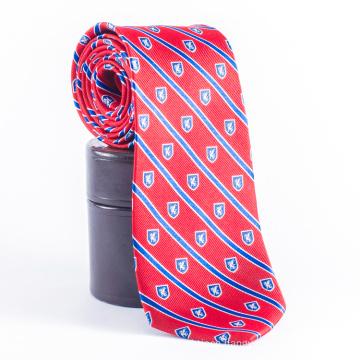 Men Private Label Castle Red Stripes Custom Ties