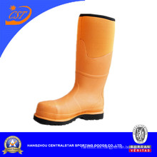 Botas de punta de acero de la rodilla amarilla brillante de moda (ST-1772)