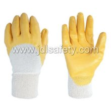 Nitrile Glove / Nitrile Dipped /Interlock Liner with Yellow Nitrile (NY1710)