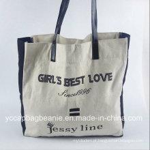 Algodão de ombro personalizado não tecido sacola de compras promocionais bolsa