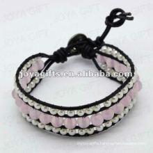 Friendship Rose Quartz 8MM Round Beads Wrap Bracelets