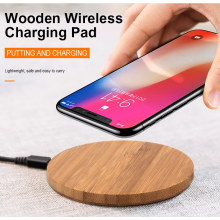 Hot Sale Bamboo Wooden Fast Wireless Charger