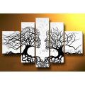 Абстрактные люди Face Tree масляной живописи (LA5-051)