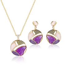 Pink Amethyst Semi-Precious Stone Jewelry Set