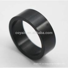Günstige runde geformte klassische Edelstahl schwarze Ringe für Männer