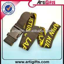 Cheap cinturón de equipaje personalizado con hebilla de plástico