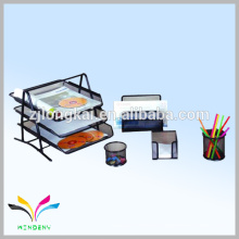 De moda de metal de escritorio de malla henings escritorio organizador de documentos de escritorio