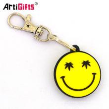 Personnalisé noël personnalisé pvc sourire smiley pneu emoji printemps keychain