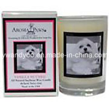Nuevo diseño de vela perfumada de soja con cuadro