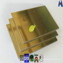 Internal External Wall Cladding Mirror Finishing Aluminum Composite Panel