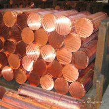 Barra de liga de cobre CuCrZr utilizada na soldagem para tampas e pontas de eletrodos