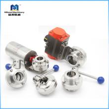 Нержавеющая сталь 304 / 316L 1-10-дюймовый пневматический клапан-бабочка