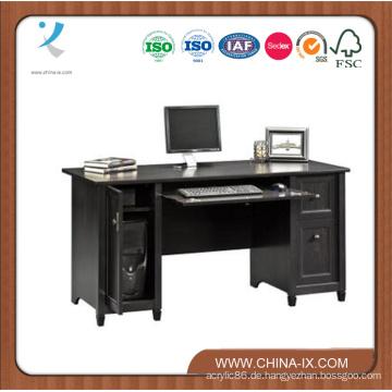 Hölzerner Computertisch mit zwei Speicher Hutch