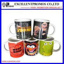 Impreso brillante colorido taza de cerámica para promocional (EP-M9154)