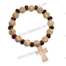 Art und Weise preiswertes religiöses hölzernes Armband