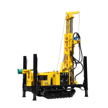 Diesel high power engine Rotary Crawler Core Drilling Rig DTH hammer pneumatic track drill rig