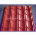 Folha de telhado de aço corrugado revestido de cor para construção