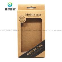 Custom Wholesale Kraft Printing Paper Mobile Phone Case Promotion Packaging Box