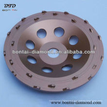 180mm PCD abrasive cup wheels for epoxy removal