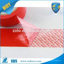 Cinta adhesiva a prueba de manipulaciones de alta calidad con efecto de hueco abierto