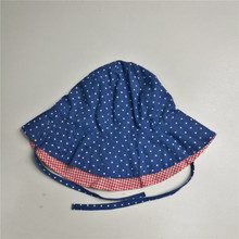 Kids Reversible Print Floppy Hat With String