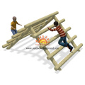 Kids Climb Wood Playhouse Struct Climbing Structures