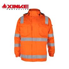 Revestimento do retardador de fogo do algodão EN11611 para a indústria de soldadura Revestimento do retardador de fogo do algodão EN11611 para a indústria de soldadura