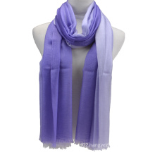 2014 New Fashion 100%Cashmere Dipped Dying Scarf