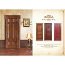 Conception de porte en bois de placage en chêne rouge d'ingénierie intérieure