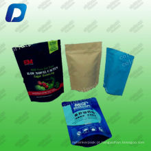 Sacos de embalagem do petisco sacos de vácuo sacos de produtos comestíveis / resealable stand up pouch fornecedor